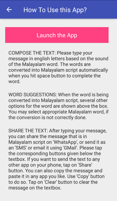 Type in Malayalam Script & Share it on WhatsApp, Facebook